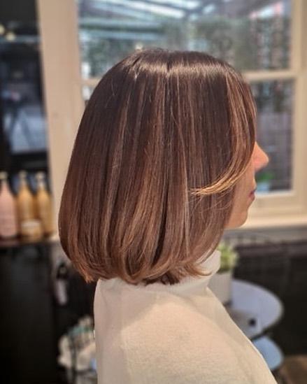 bronde balayage straight hair by moosh from malvern melbourne city australia