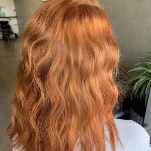 copper wavy hair by oscar charlie in port melbourne victoria australia