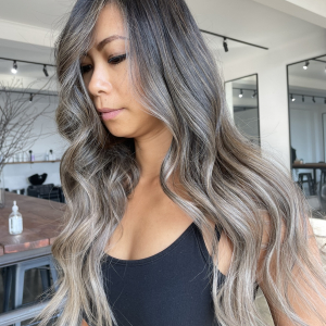 ash blonde balayage wavy long hair by tamsin in aspendale melbourne victoria